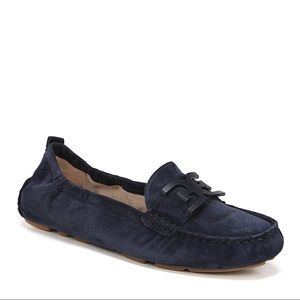 Sam Edelman Navy Suede Loafers